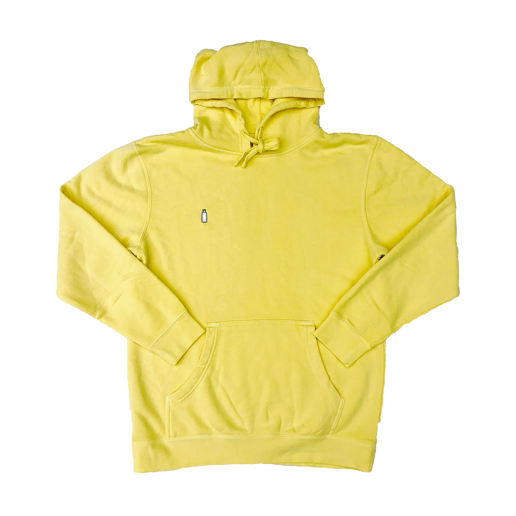 MILK BOTTLE LOGO HOODIE (YELLOW)