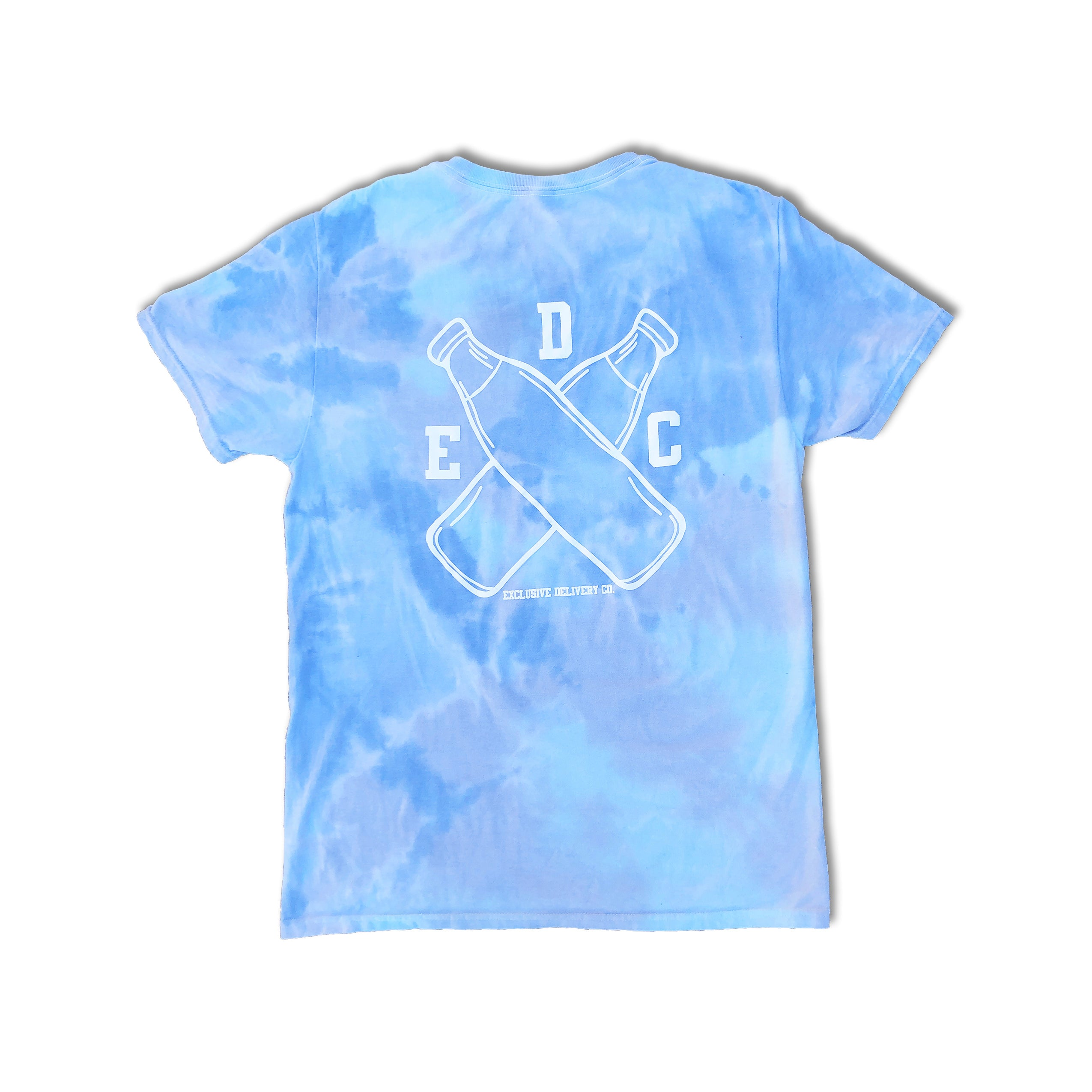 MILK BOTTLE LOGO S/S (TURQUOISE TIE-DYE)