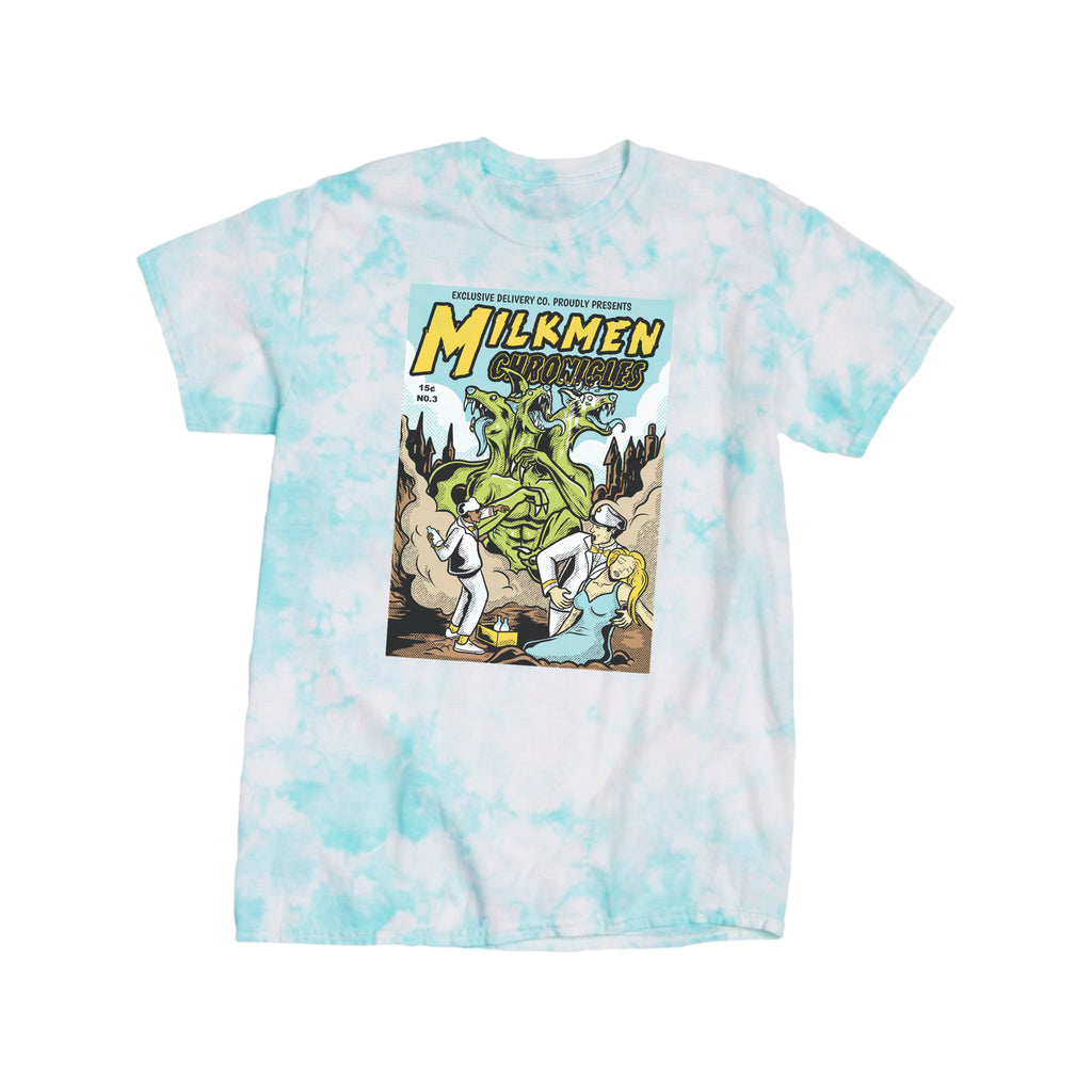 3 HEADED BEAST S/S TEE (TURQUOISE TIE-DYE)