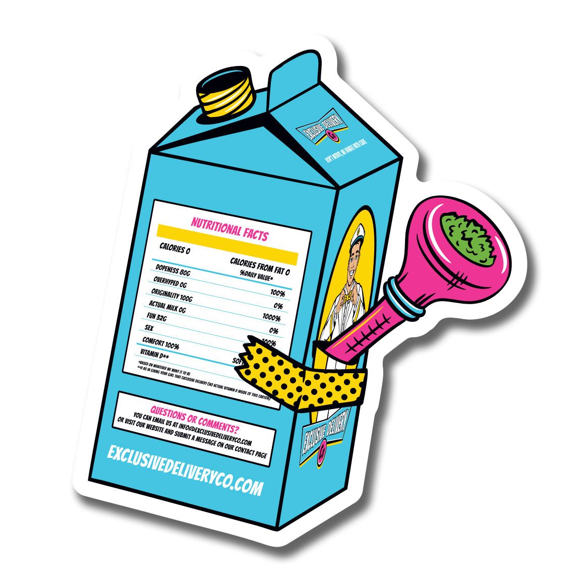MILK CARTON BONG STICKER