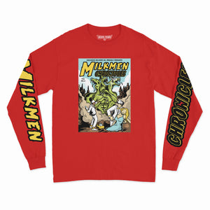 3 HEADED BEAST L/S TEE (RED)