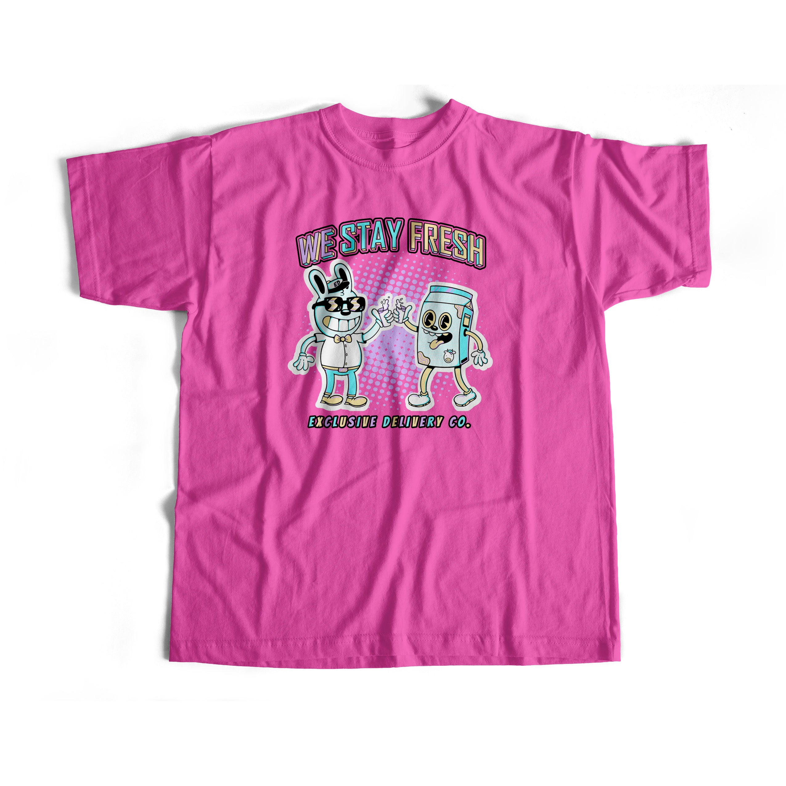 WE STAY FRESH S/S TEE (HOT PINK)