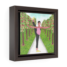 Dancer in the Park (Square Framed Premium Gallery Wrap Canvas)