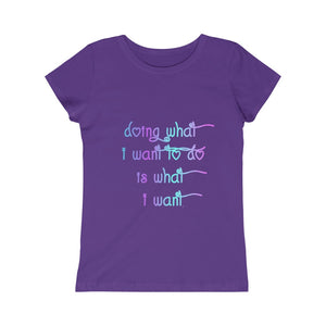 Open image in slideshow, What I Want Girls Princess Tee