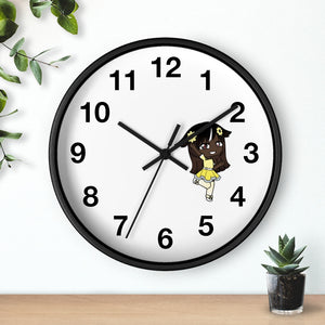 Open image in slideshow, Little Girl Living in Yellow Wall Clock