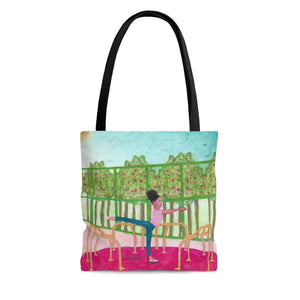 Open image in slideshow, Arabesque Go Round at the Park Tote Bag