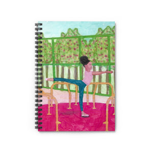 Arabesque in The Park - Spiral Notebook - Ruled Line