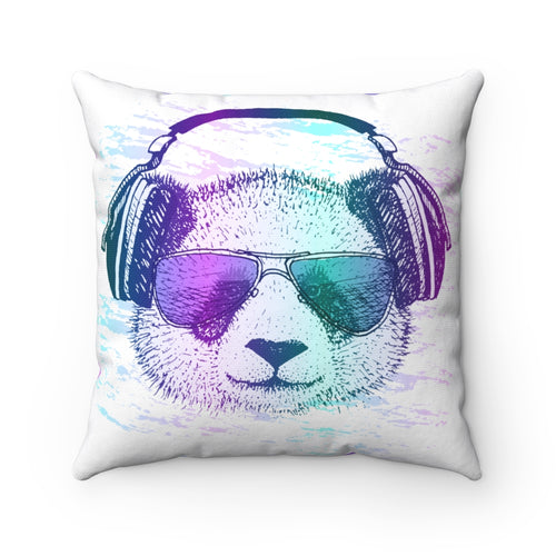 Music Bear Square Pillow