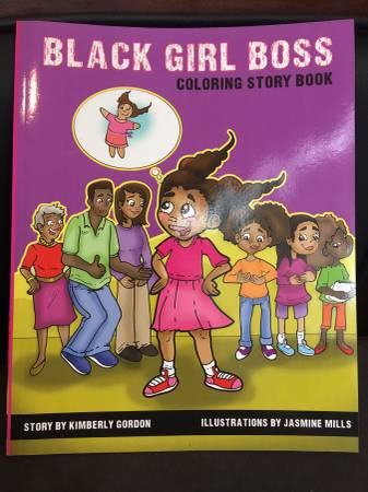 Black Girl Boss - Story Coloring Book