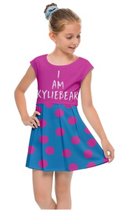 """I Am KYLIEBEAR"" Kids' Cap Sleeve Dress"
