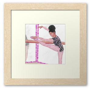 To My Left, I Stretch (Framed Art Print)  - Free Shipping