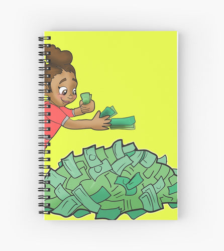 Graph Paper Business Planning Notebook for Girls - Black Girl Boss