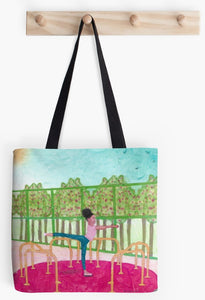 Arabesque Go Round at the Park - Tote Bag - FREE SHIPPING
