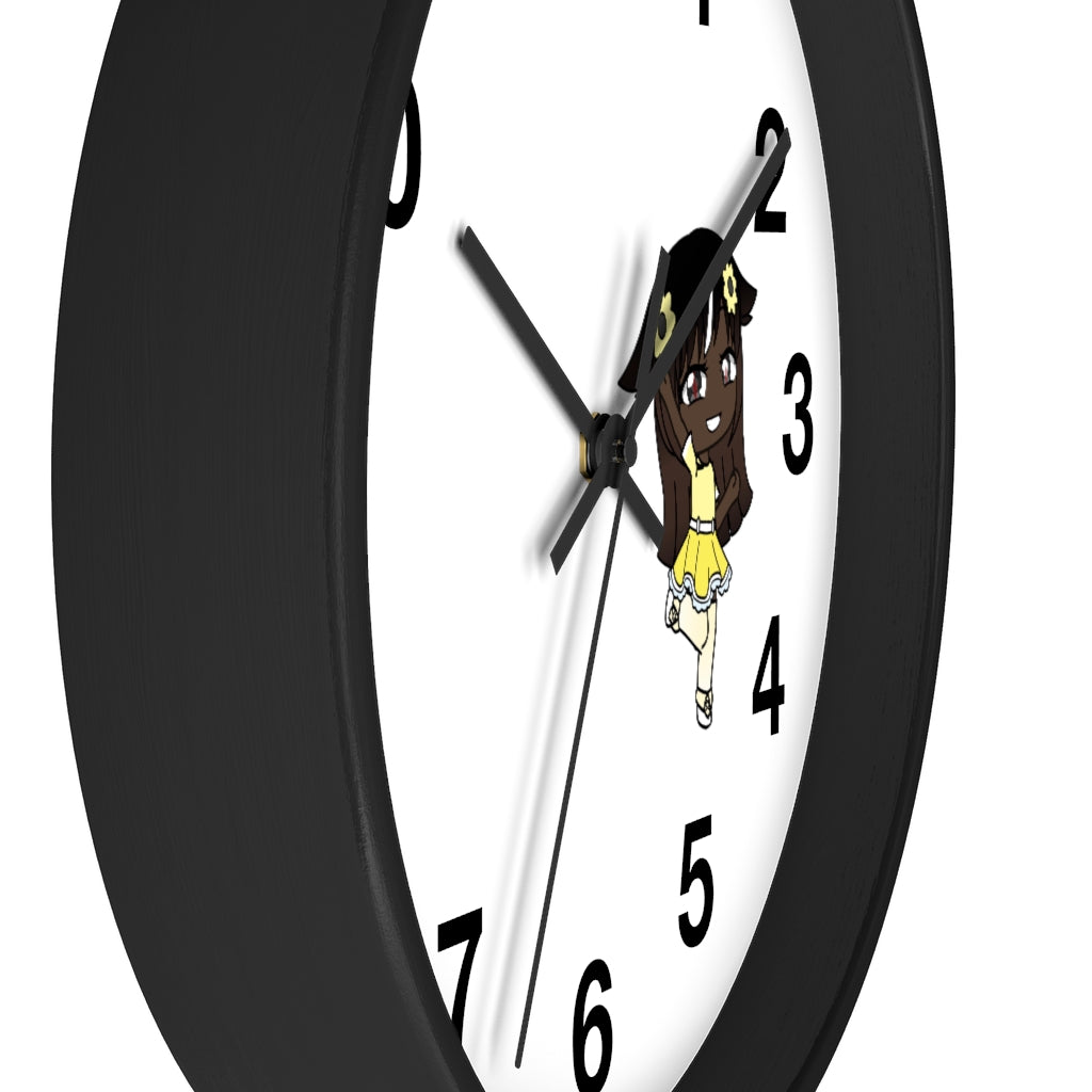 Little Girl Living in Yellow Wall Clock