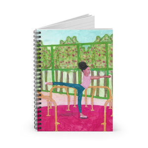 Open image in slideshow, Arabesque in The Park - Spiral Notebook - Ruled Line