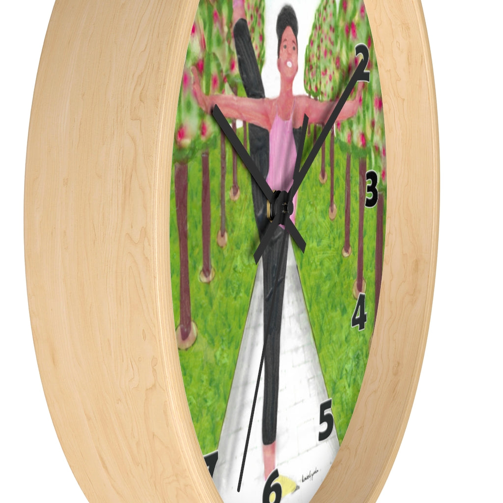 Dancing in the Park Wall Clock