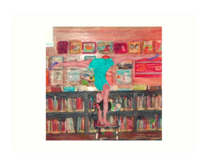 Acro In The Library (Art Print)  - Free Shipping