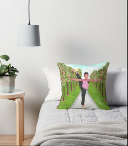 Young Dancer in the Park - Throw Pillow - Cover + Cushion (FREE Shipping)
