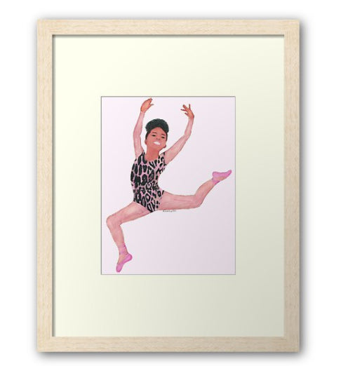 I Leap In Leopard (Framed Art Print) - Free Shipping