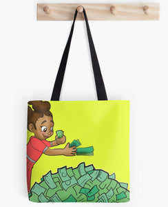 Black Girl Boss Tote Bag - Fluorescent Yellow Free Shipping