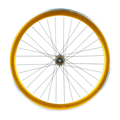 6KU 45mm Deep V Wheelset, 32 Holes,  Anodized Gold