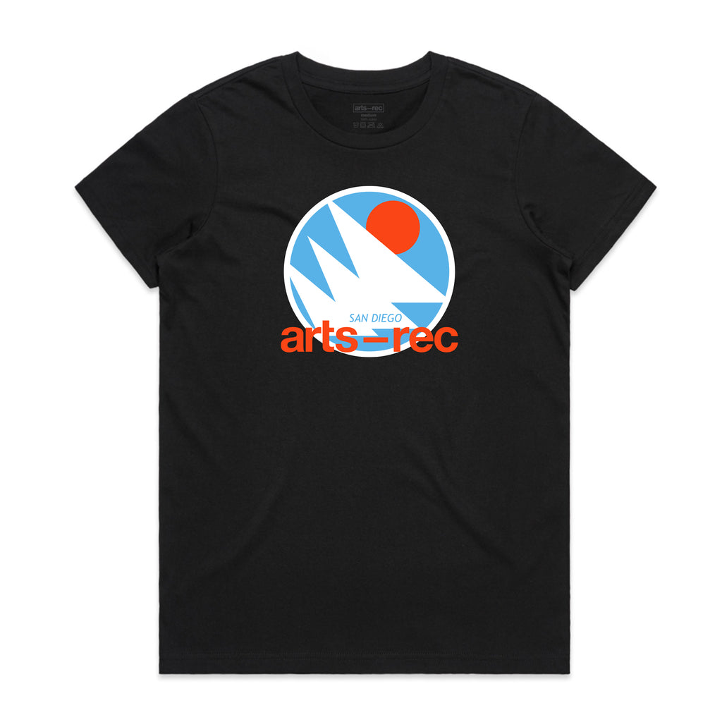 Arts-Rec Retro Hoops Women's Tee - Black