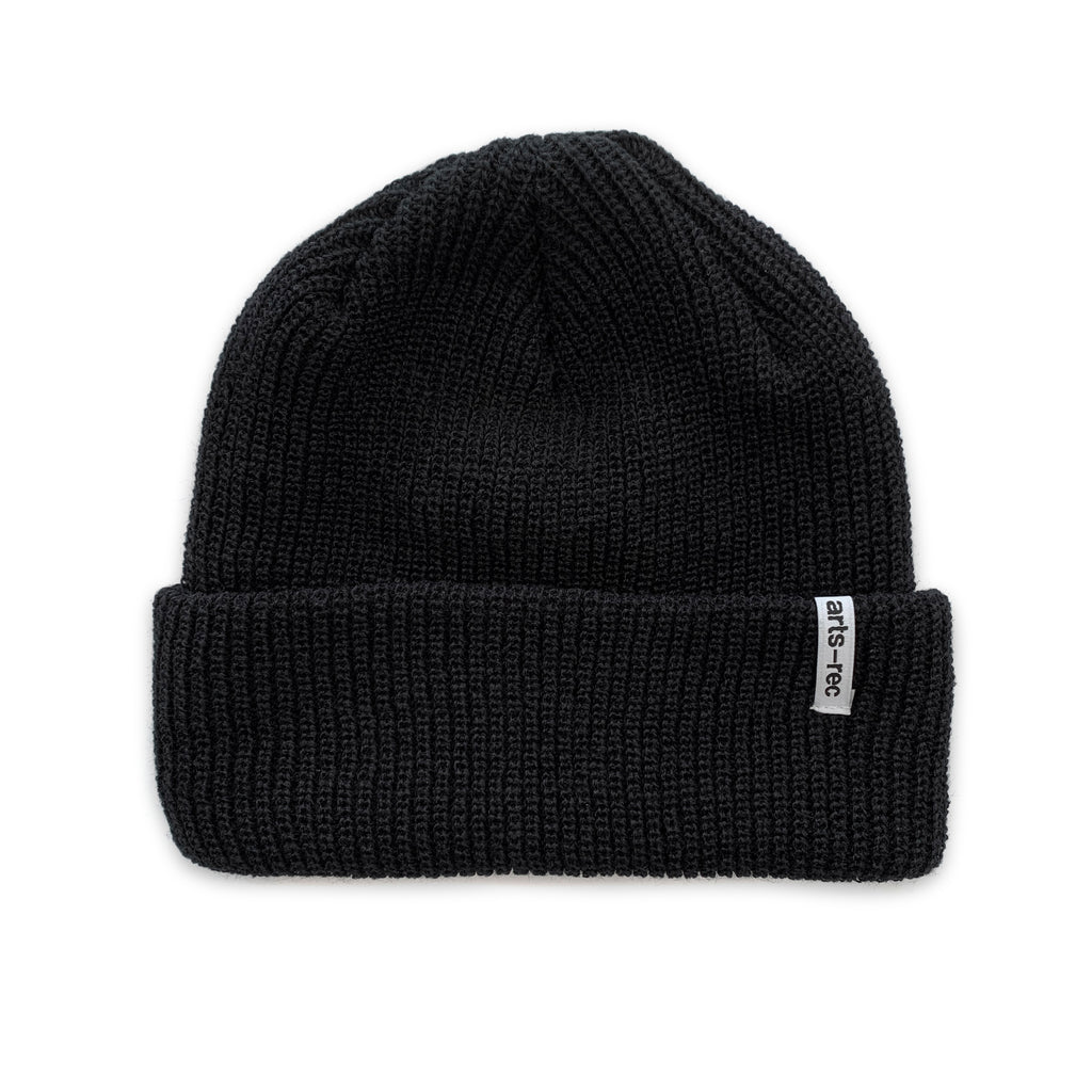 Arts-Rec Cuffed Knit Beanie - Black