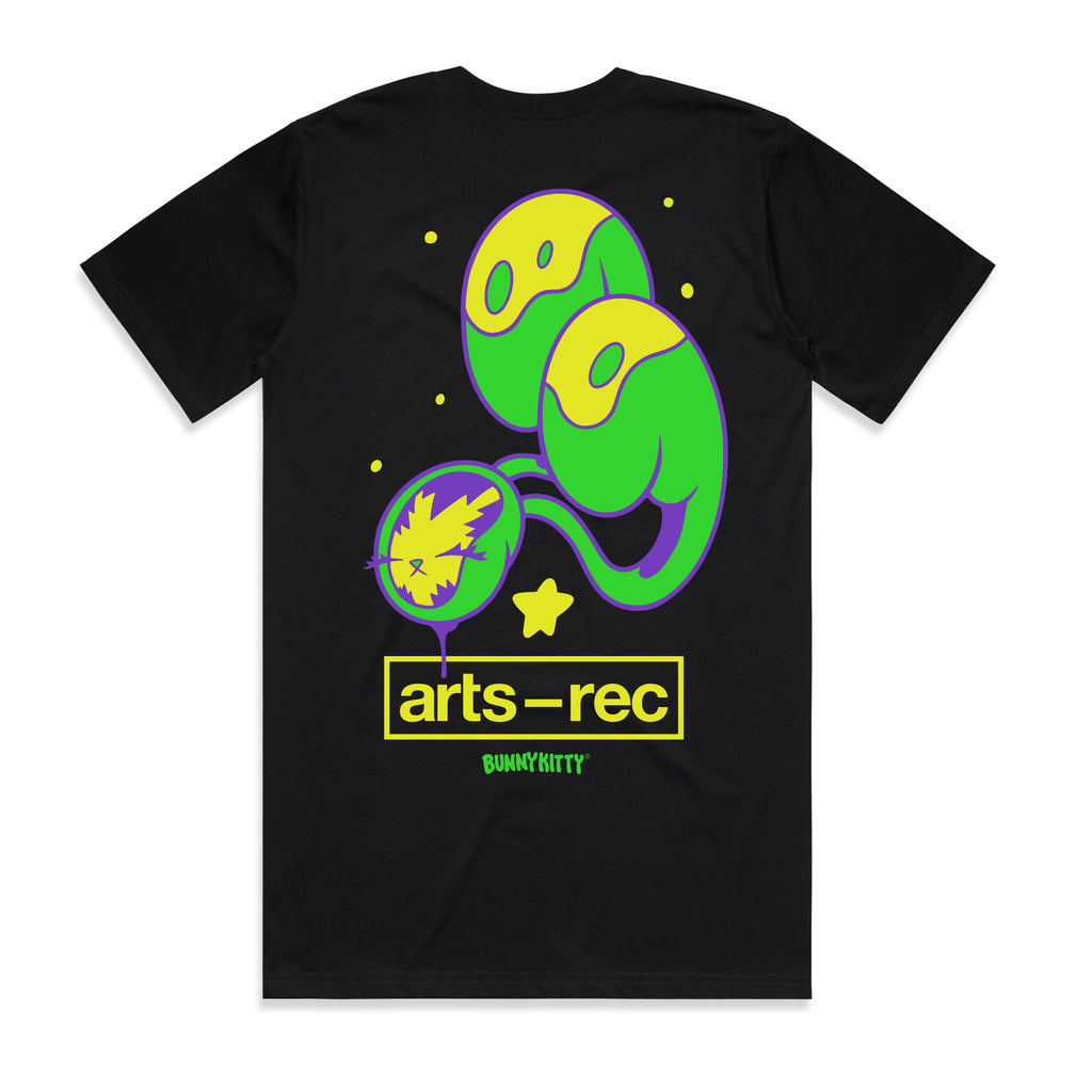 Arts-Rec x BunnyKitty Tee -Black