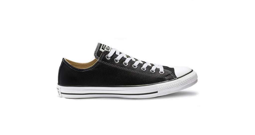 Converse : Chuck Taylor Low (Leather) - Black