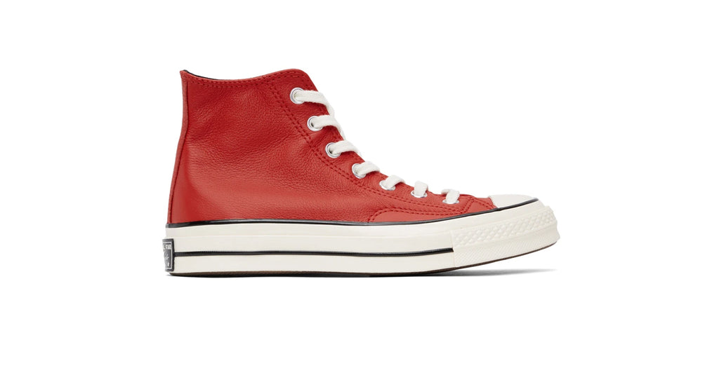 Converse : Chuck 70 HI (Leather) - University Red / Egret