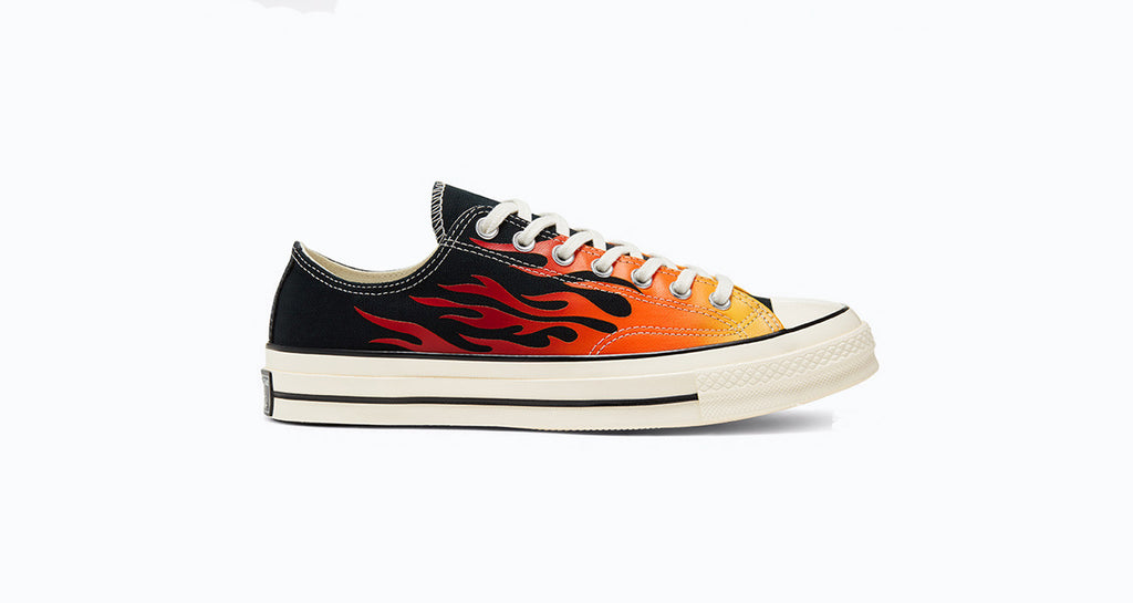 Converse : Chuck 70 Ox - Black / Enamel Red (Flame)