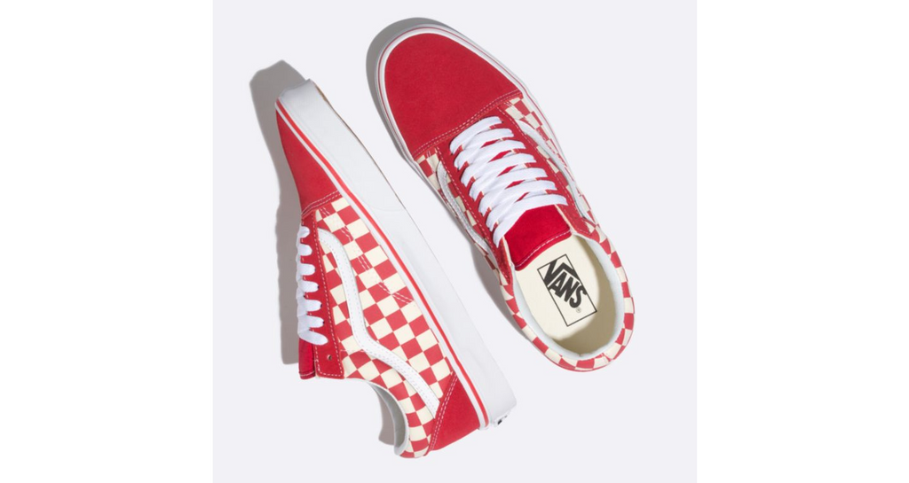 Vans Old Skool Primary Check - Red