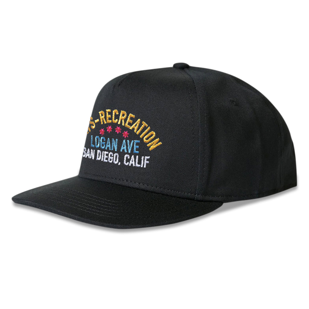 Arts-Rec Multicolor Boxing Logo Snapback Hat - Black
