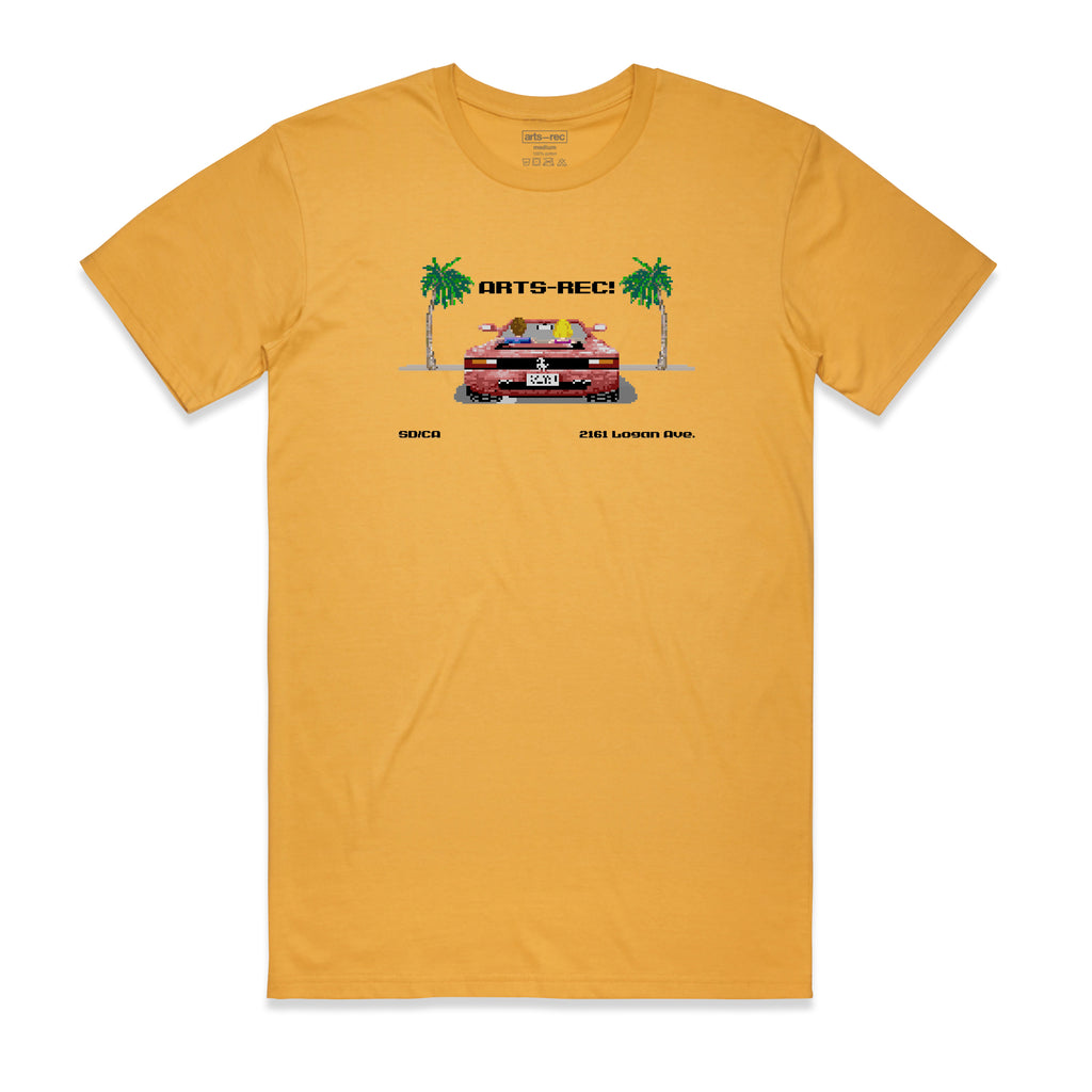 Arts-Rec Out Run Tee - Mustard