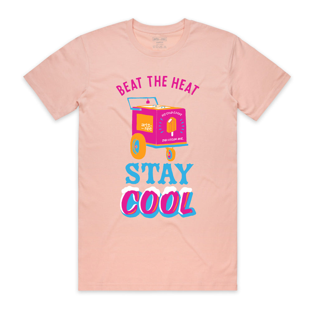 "Arts-Rec ""Beat the Heat"" Tee - Pink"