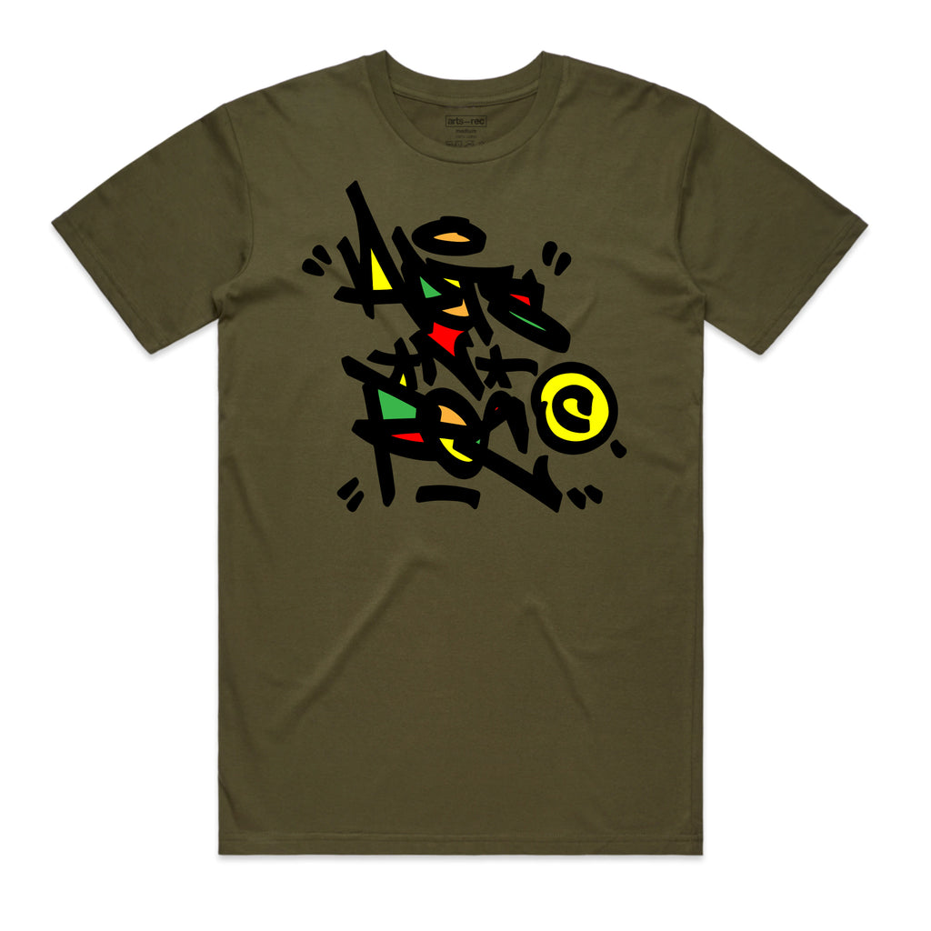 Arts-Rec Tag Tee - Army