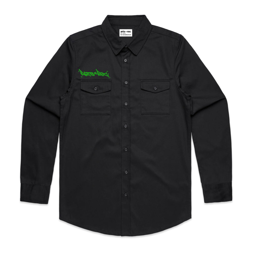 Arts-Rec Tag Military Shirt - Black