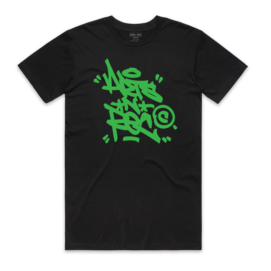 Arts-Rec Tag Tee - Black