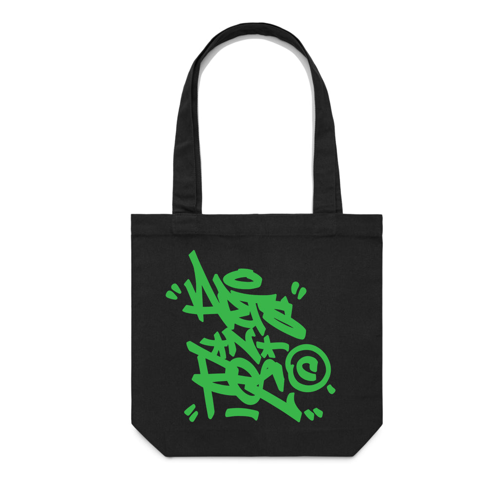 Copy of Arts-Rec Tag Canvas Tote - Black