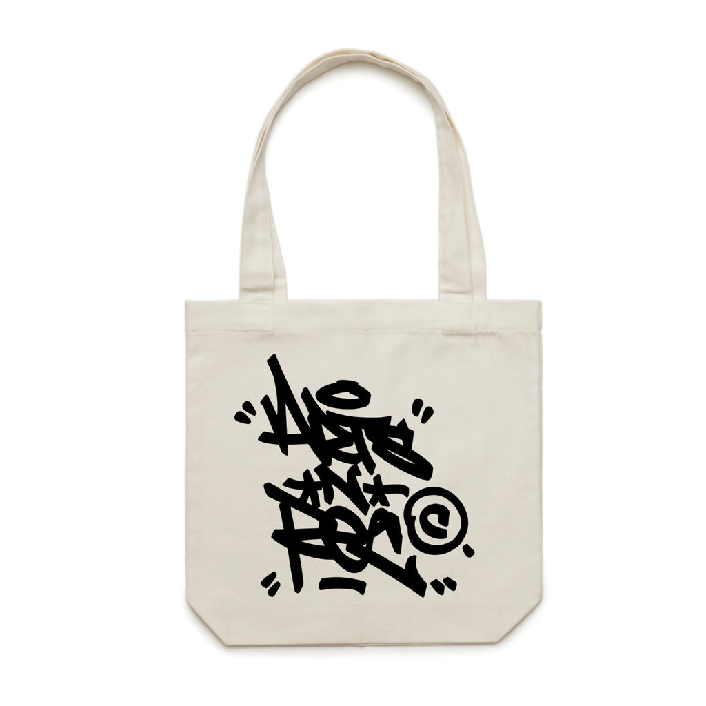 Arts-Rec Tag Canvas Tote - Cream