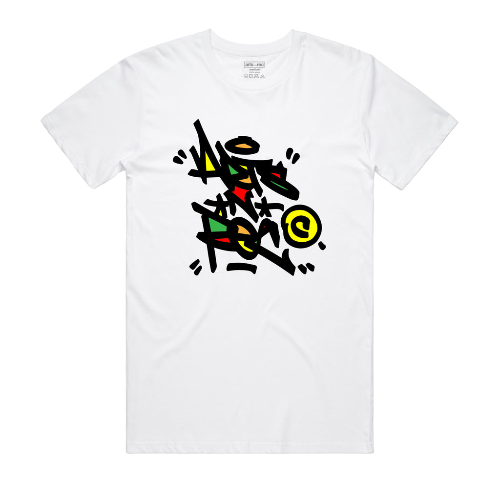 Arts-Rec Tag Tee - White