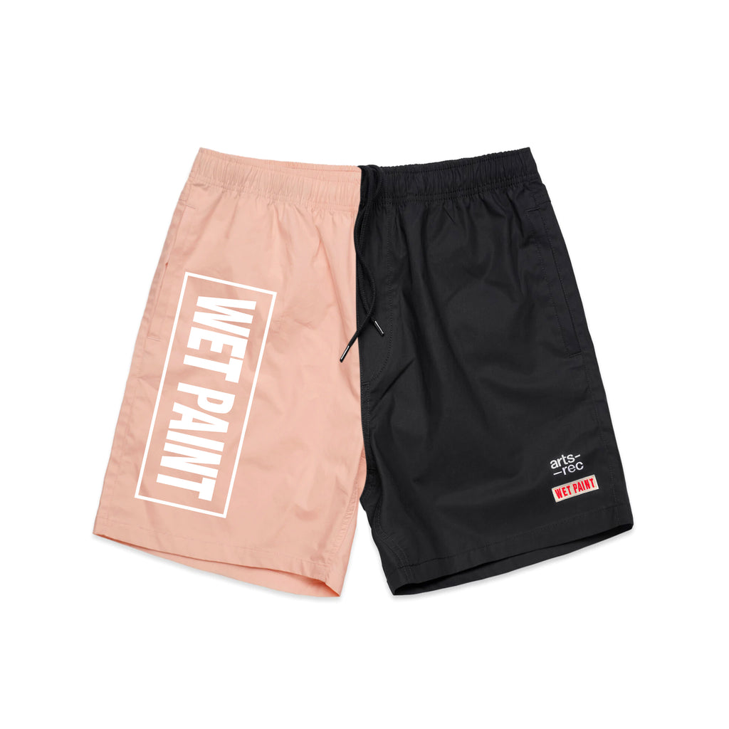 Arts-Rec x Wet Paint Shorts - Pink & Black