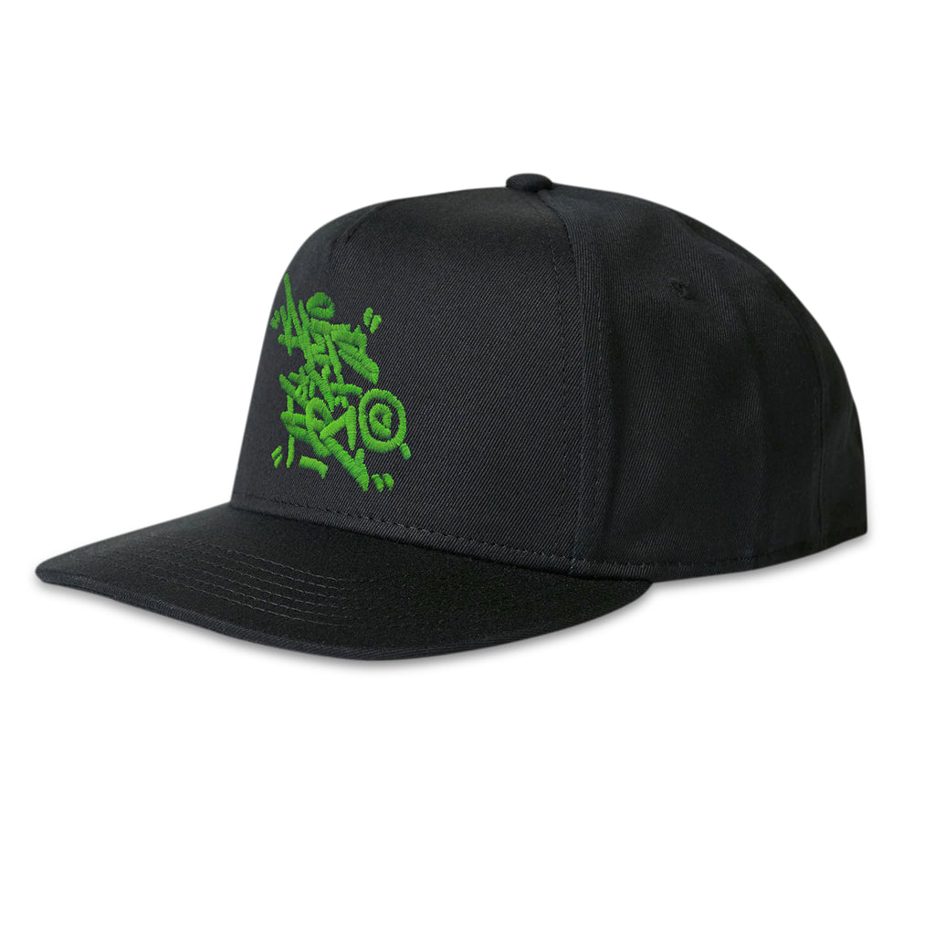 Arts-Rec Tag Snapback Hat - Black
