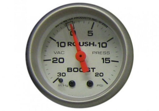 "Roush Vacuum / Boost Gauge, 2 1/16"" Mechanical, White Face - Lebanon Ford Performance Parts"