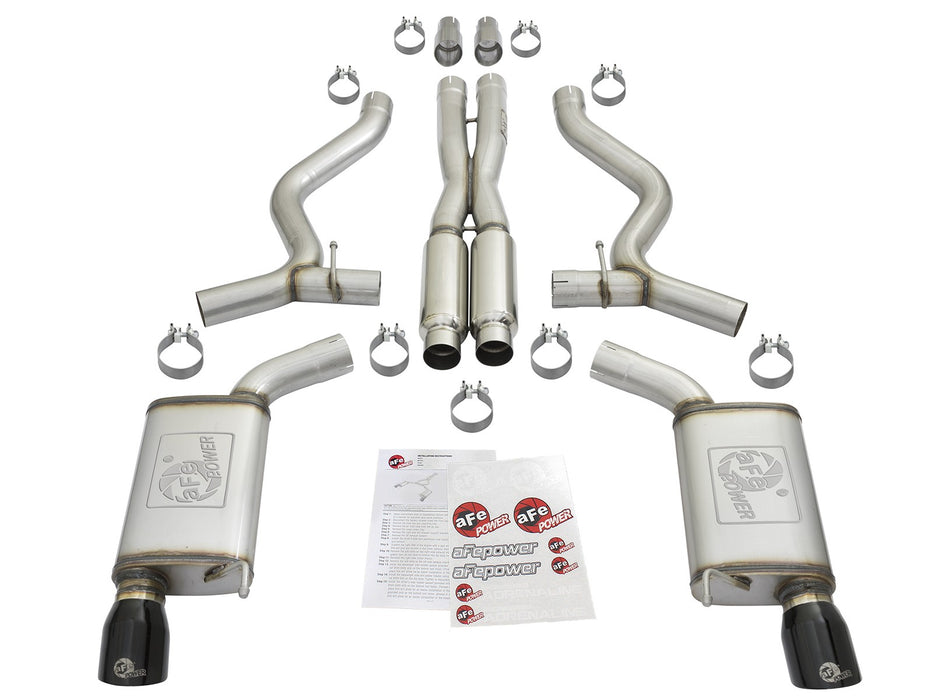 aFe MACH Force-XP Sport Tone Cat-Back Exhaust w/ Black Tips (2015-2017 GT)