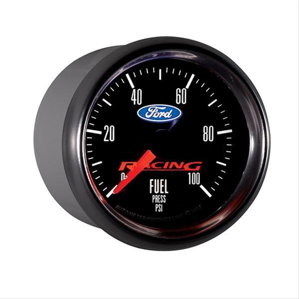 Autometer Ford Racing 52mm F/S Electronic 0-100 PSI Fuel Pressure Cobra Jet Mustang Gauge Pack - Lebanon Ford Performance Parts