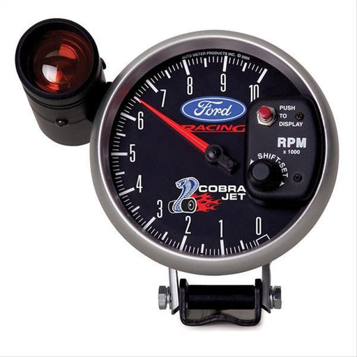 Autometer Ford Racing 5in 10,000 RPM Pedestal Mount Tachometer Cobra Jet Mustang Gauge Pack - Lebanon Ford Performance Parts