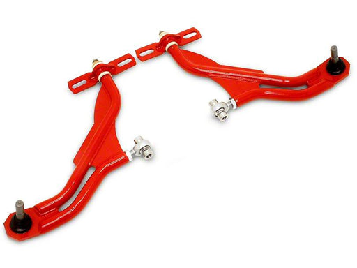 BMR 2010-2014 Mustang Adjustable Front A-Arms - Extended Ball Joint - Red - Lebanon Ford Performance Parts