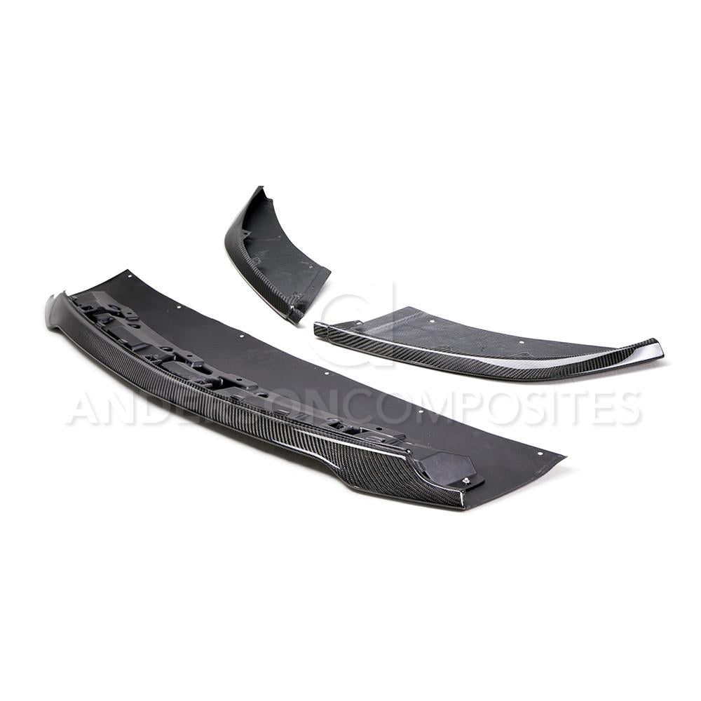 2015-2018 MUSTANG SHELBY GT350 CARBON FIBER FRONT SPLITTER (3 PC) - Lebanon Ford Performance Parts