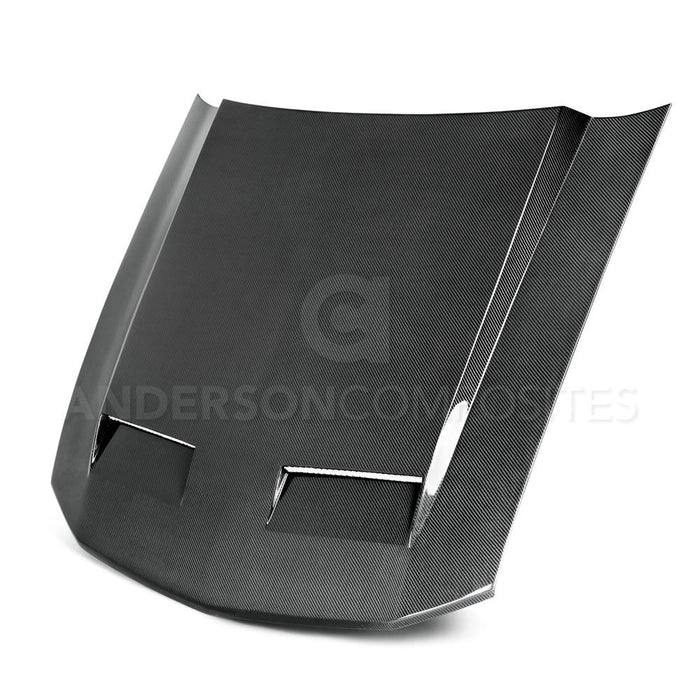 Anderson Composites Carbon Fiber Ram Air Hood - Twin Inlets (V6/GT 2005-2009) - Lebanon Ford Performance Parts